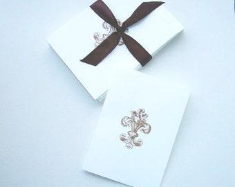 Fleur De Lys Notecards