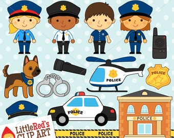 Police Clipart and Lineart - personal and commercial use