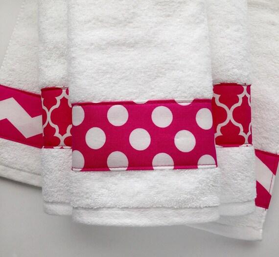 Pink Towels, Hand Towel, Chevron, Hot Pink, Bathroom Decor, Towel Sets,  Bath Towels, Bathroom, Polka Dots, Towel Rack, August Ave, Towels