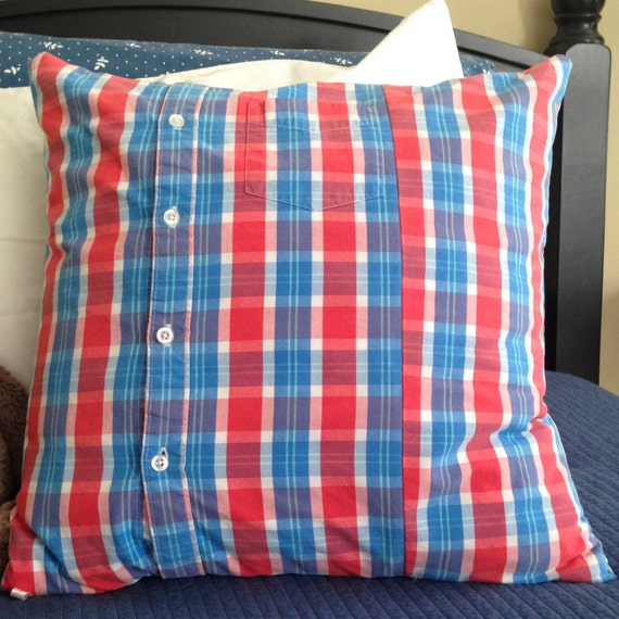 Red Plaid Carolers 18: Blue Plaid Pillow Cover 18 X 18 Inch Red Plaid Pillow Cover