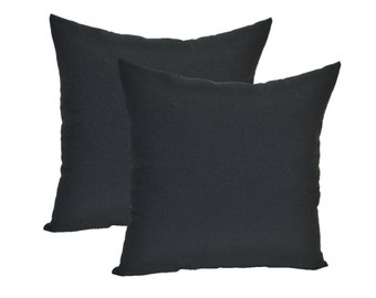 """SET OF 2 - 20"""" Black Feather and Down Decorative Throw Pillows"""