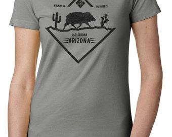 "Ladies' Pixies inspired ""Havalina"" Old Sedona Indie rock t shirt"