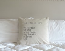 Personalized Pillow - Custom Pillow - Custom Pillow case - Christmas Gifts - Anniversary Gift - Love letters - Sentimental Gifts - Pillows