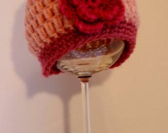 Newborn flower hat, baby flower hat, Newborn photo prop, baby photo prop, baby hat with flower