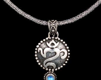 Sterling Silver Balinese Om Necklace: OM