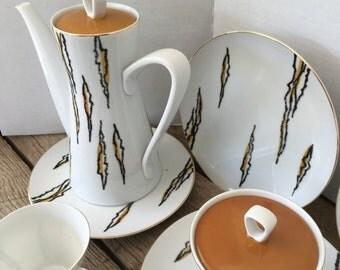 Narumi China Vintage Tea Set Flash Pattern