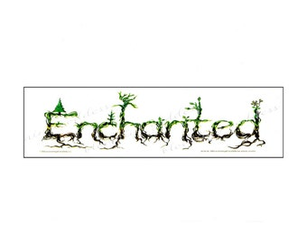 Enchant Your Ride, Enchanted Vinyl Sticker Decal, Car Truck Van Window Nature Lover Art Sticker, Original Natural Tree Art