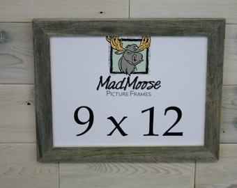 "9x12 Thin x 1.25"" Barn Wood Picture Frame"