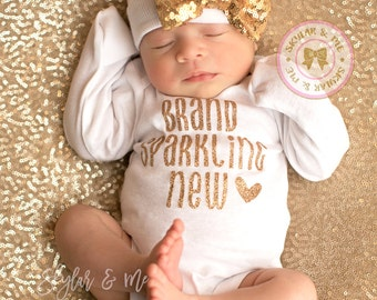 Newborn Girl Take Home Outfit, Baby Girl outfit, Baby Shower, New Baby Gift, newborn girl ...