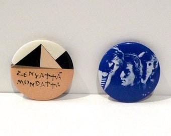 The Police Pinback Set (2) Vintage Zenyatta Mondatta Reggatta de Blanc 1970s 1980s Band Button Sting Summers Stewart Copeland Pyramid
