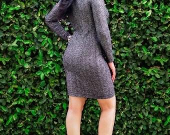 Plus Size Dress / Womens Tight Dress / Pencil Dress / Elegant Square Neck Dress / Long Sleeves /All Sizes / Party Dress / petite / tall