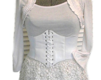 Steampunk Airship Pirate Outfit Corset Vintage Crocheted shorts Crochet Choker 4pc Costume M
