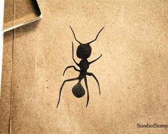 Ant Silhouette Rubber Stamp - 1 x 2 inches