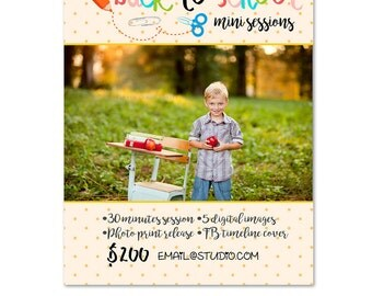 INSTANT DOWNLOAD - Back To School Marketing board Photoshop Template - MA237