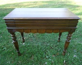 Antique Flip Top Writing Desk, Secretary Desk, Vintage Desk, Paint to Order, Custom Painted