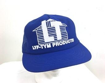 """Royal Blue """"Lyf-Tym Products"""" Trucker Hat"""