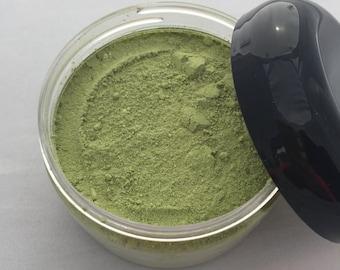 Green Matcha Tea and Oats Face Mask