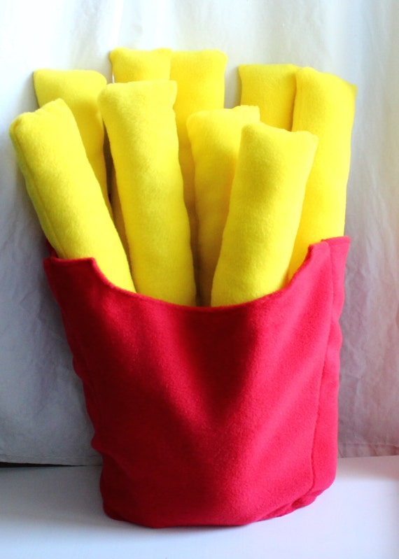 Cute Food Pillows Diy : French fry plush Fries pillow Giant fries fast food
