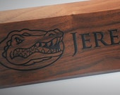 Personalized Wooden Desk Name Plates 10 Inch solid Walnut wood, custom engraved with the text of your choice custom wooden sign