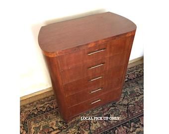Vintage Landstrom Furniture Art Deco Chest of Drawers
