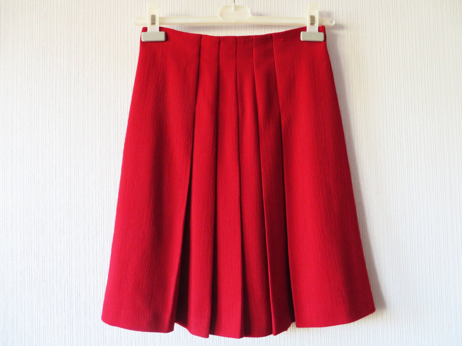 Mid-Rise Wool Pencil Skirt Details Lafayette New York stretch crepe skirt. Approx.