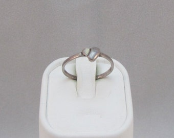 Sterling Silver Heart Ring size 6