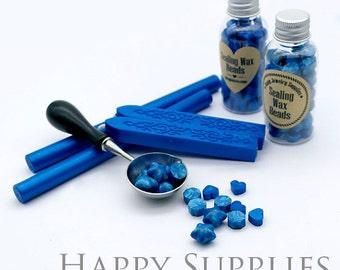 Blue / Sapphire Blue / Dodger Blue / Blue Metallic Sealing Wax for Wax Seal Stamp Set