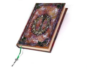 Key Grimoire, 400 page Hardback Sketchbook, Blank Book of Shadows, Handmade Journal