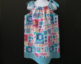 Paw Patrol Pillowcase Dress Made to Order Toddlers Paw Patrol Dress Summer Sun Dress