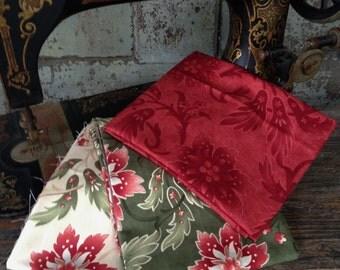 Fabric: HALF YARD - Sentiments Collection- Lavish Poinsettias - Moda Fabrics