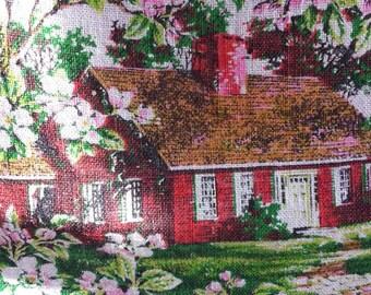 Vintage Linen Calendar Kitchen Towel 1974