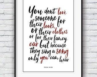 Oscar Wilde quote, Inspirational quote,  Quote prints, Motivational poster,  Wall Decor, Minimalist print