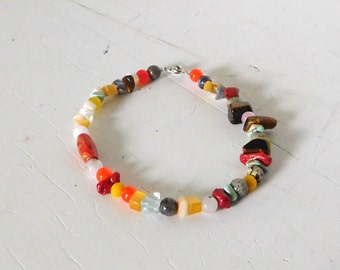 """10"""" Hippie Anklet Beach Jewelry Boho Anklet Beaded Anklet Rasta Jewelry Assorted Colors Sundance Style Beach Anklet Gypsy Anklet Indian"""