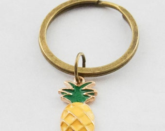 Pineapple Keychain Pineapple Key Ring Pineapple Jewelry Pineapple Accessories Pineapple Gifts Tropical Fruit Keychain Fruit Keychain Gifts