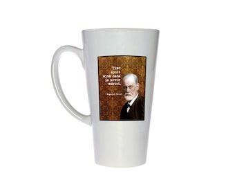 Sigmund Freud Quote- 17 oz Tall Latte Geek Mug