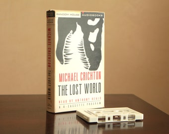 The Lost World by Michael Crichton audio book on tape / four cassettes read by Anthony Heald
