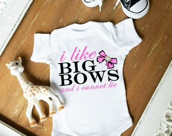 I like Big Bows and I cannot Lie Customize Color Bodysuit by Simply Chic Baby Boutique