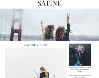 "Responsive Wordpress Theme ""Satine"" //  Magazine Slider Instant Digital Download Premade Blog Theme Design"