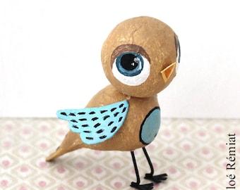 Mini ochre and Blue Bird