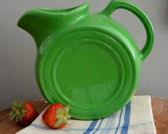 Tepco Water Pitcher, Tepco USA Pitcher, Mid Century Pitcher, Green Water Pitcher