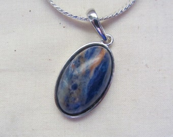 Beautiful Sodalite blue and orange Pendant