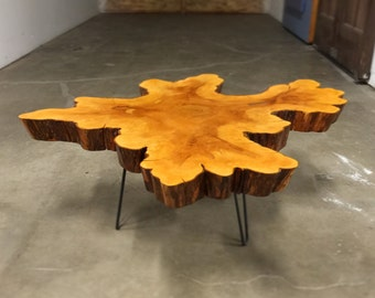 Sold Amazing Large Cypress Crosscut Coffee Table