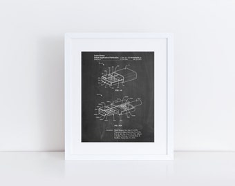 Reversible USB Patent Poster, Technology Art, Geek Gift, Office Decor, Computer Science, Electrical Engineer, PP1013