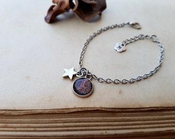 Star Bracelet, initial bracelet, Tiny Star Bracelet, Wish Bracelet, Layering Bracelet, Minimalist Bracelet, personalized gift, Mars Bracelet