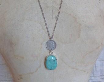 Turquoise Buffalo Nickel Necklace II