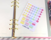Mini shapes planner stickers; Pastel Stickers; Filofaxing; Erin Condren; Cute Stickers; Inkwell Press; Kawaii Stickers; Colour Coding