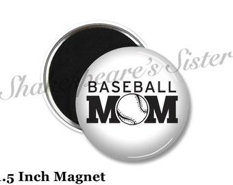 Baseball Mom - Fridge Magnet - Baseball Magnet - 1.5 Inch Magnet - Kitchen Magnet
