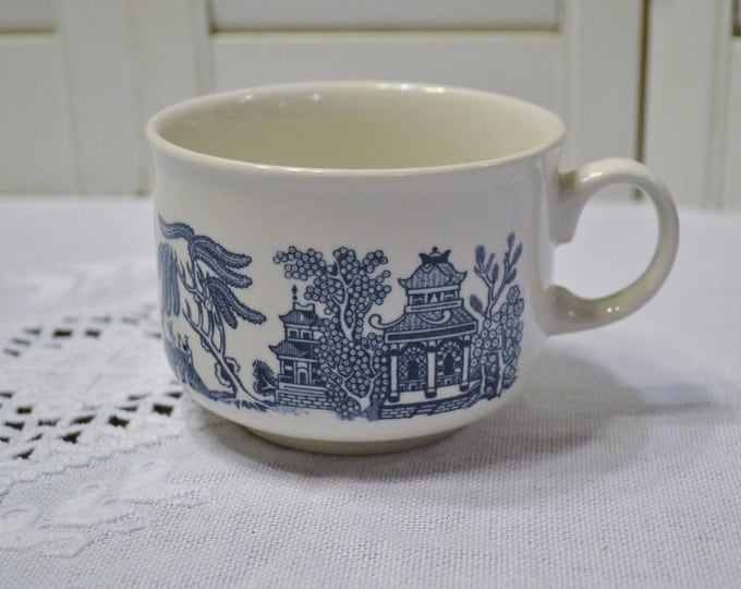 Churchill Blue Willow Jumbo Mug Blue and White Asian Design England Vintage Soup Breakfast Mug Panchosporch
