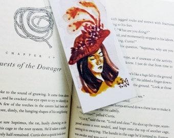 Missus Yellow Bookmark- Handmade