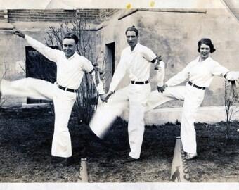 Vintage Photo..Caldwell Coyote's Yell Team 1930's, Original Photo, Old Photo Snapshot, Vernacular Photography, American Social History Photo
